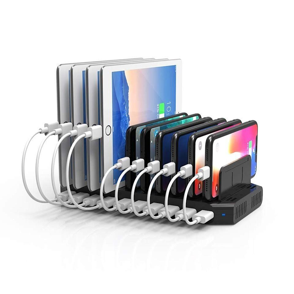Unitek 10-Port USB Charging Stand Charger Dock with Quick Charge, 25% off coupon available now. (Photo: Amazon)