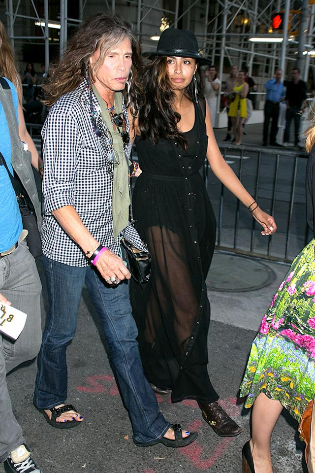 Mandatory Credit: Photo by Erik Pendzich / Rex USA (1330107l)Steven Tyler and guest'The Bling Ring' film premiere, New York, America - 11 Jun 2013