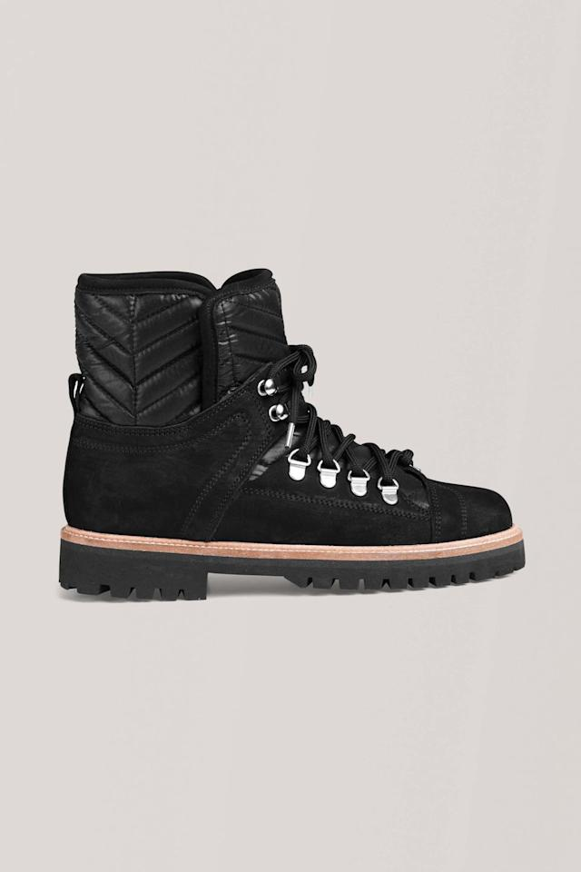 """<p><a class=""""body-btn-link"""" href=""""https://go.redirectingat.com?id=127X1599956&url=https%3A%2F%2Fwww.ganni.com%2Fen-gb%2Fwinter-hiking-boots-S0783.html%3Fdwvar_S0783_color%3DBlack&sref=https%3A%2F%2Fwww.harpersbazaar.com%2Fuk%2Ffashion%2Fwhat-to-wear%2Fg37262%2Fbest-winter-boots%2F"""" target=""""_blank"""">SHOP NOW</a></p><p>The hiking boot is key for any chic shoe rack– and one that is certainly worth embracing due to its comfortable reputation. This simple version from Ganni will add edge to floaty dresses or look chic with some straight-leg jeans.</p><p>Leather boots, £300, <a href=""""https://go.redirectingat.com?id=127X1599956&url=https%3A%2F%2Fwww.ganni.com%2Fen-gb%2Fwinter-hiking-boots-S0783.html%3Fdwvar_S0783_color%3DBlack&sref=https%3A%2F%2Fwww.harpersbazaar.com%2Fuk%2Ffashion%2Fwhat-to-wear%2Fg37262%2Fbest-winter-boots%2F"""" target=""""_blank"""">Ganni</a></p>"""