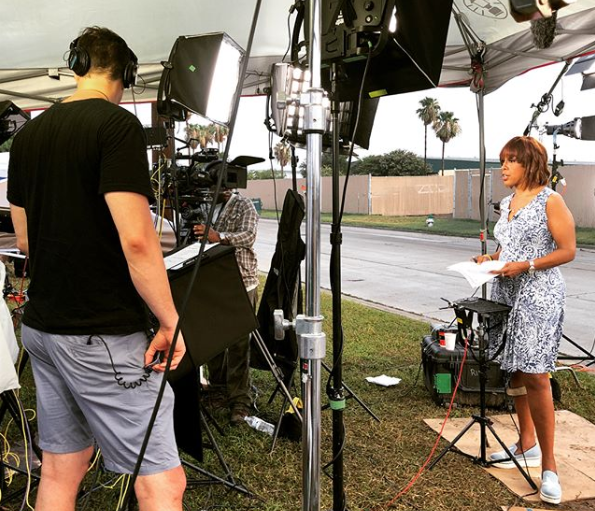 Gayle King wore a $14.99 dress from Ross Dress for Less on the evening news. (Photo: Instagram/gayleking)