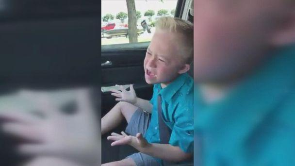 A video of Dane Miller, 9, performing Whitney Houston's 1993 hit, 'I Have Nothing,' has gone viral after his aunt, Jeanne Miller, posted it on Facebook. (The Miller Family)