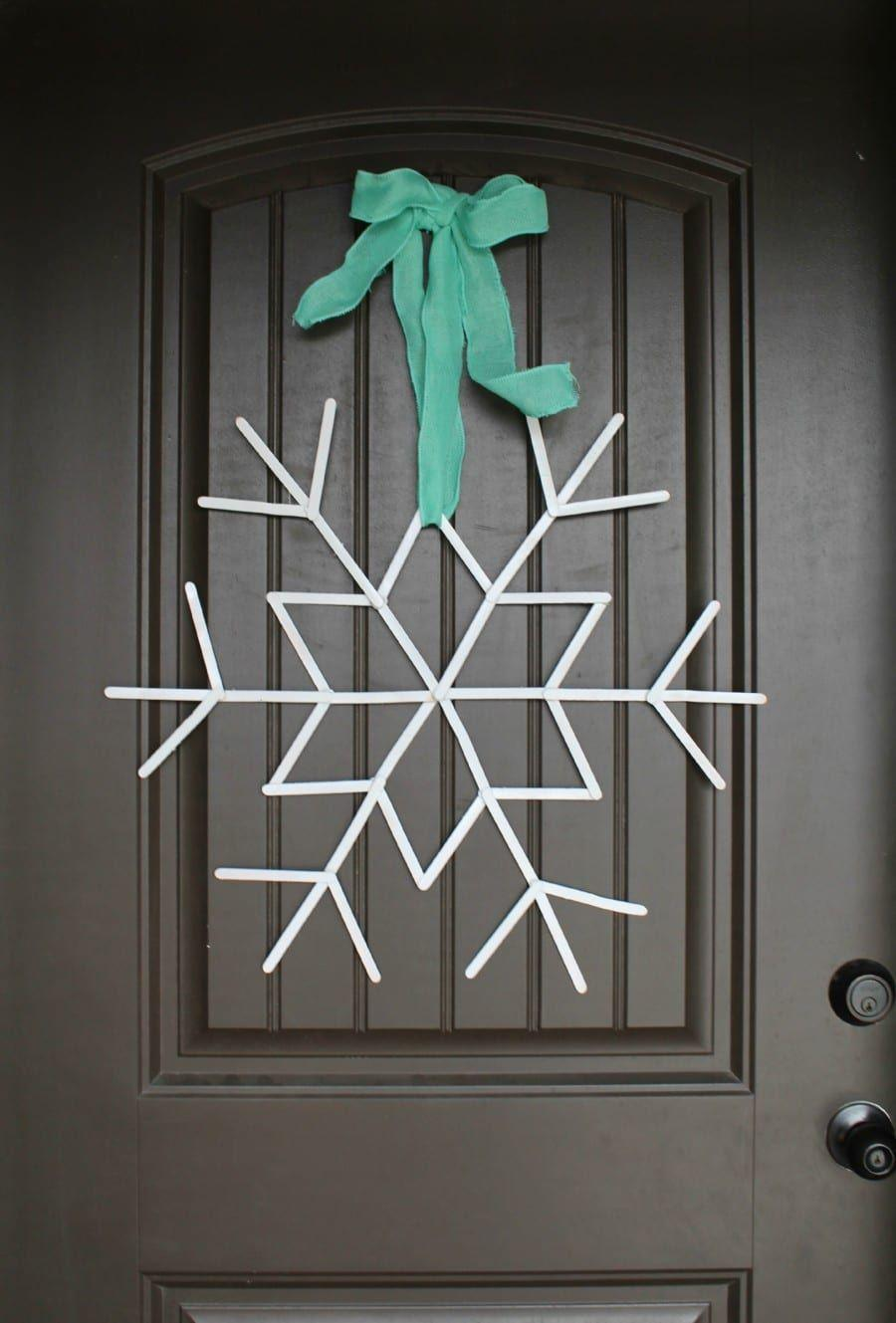 "<p>Arrange popsicle sticks in various unique shapes — every snowflake is different after all! — and secure with hot glue. Cluster your snowflakes as a wallhanging, hang a large one on the door as a wreath ... there are endless possibilities for your custom creations.</p><p><em><a href=""https://www.agirlandagluegun.com/2015/12/popsicle-sticks-snowflakes-sugar-bee.html"" rel=""nofollow noopener"" target=""_blank"" data-ylk=""slk:Get the tutorial at A Girl and a Glue Gun»"" class=""link rapid-noclick-resp"">Get the tutorial at A Girl and a Glue Gun»</a></em></p><p><strong>RELATED</strong>: <a href=""https://www.goodhousekeeping.com/holidays/christmas-ideas/g2993/mason-jar-christmas-crafts/"" rel=""nofollow noopener"" target=""_blank"" data-ylk=""slk:16 Mason Jar Christmas Crafts to Make as Gifts (or Keep for Yourself)"" class=""link rapid-noclick-resp"">16 Mason Jar Christmas Crafts to Make as Gifts (or Keep for Yourself)</a><br></p>"
