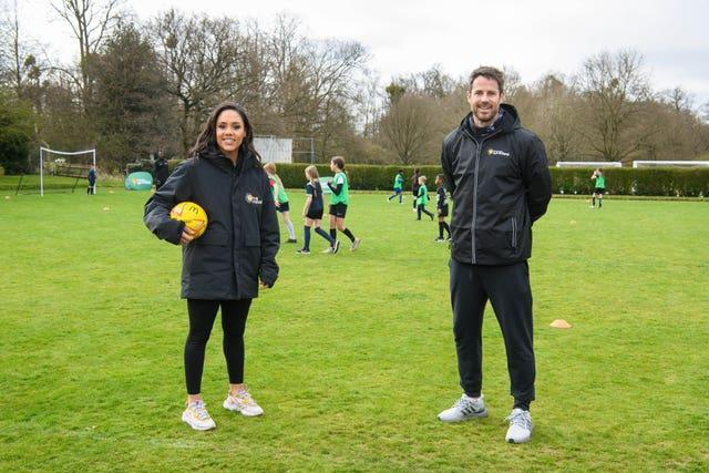 Meanwhile, Alex Scott and Jamie Redknapp joined children at Bushy Park Sports Club in London, to launch the McDonald's Fun Football programme, which will provide more than a million hours of free football to 5-10-year-olds this year
