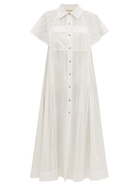 "<br> <br> <strong>Mara Hoffman</strong> AIMILIOS Cotton Dress, $, available at <a href=""https://go.skimresources.com/?id=30283X879131&url=https%3A%2F%2Fshopmcmullen.com%2Fcollections%2Fdresses-1%2Fproducts%2Fmara-hoffman-aimilios-cotton-dress"" rel=""nofollow noopener"" target=""_blank"" data-ylk=""slk:McMullen"" class=""link rapid-noclick-resp"">McMullen</a>"