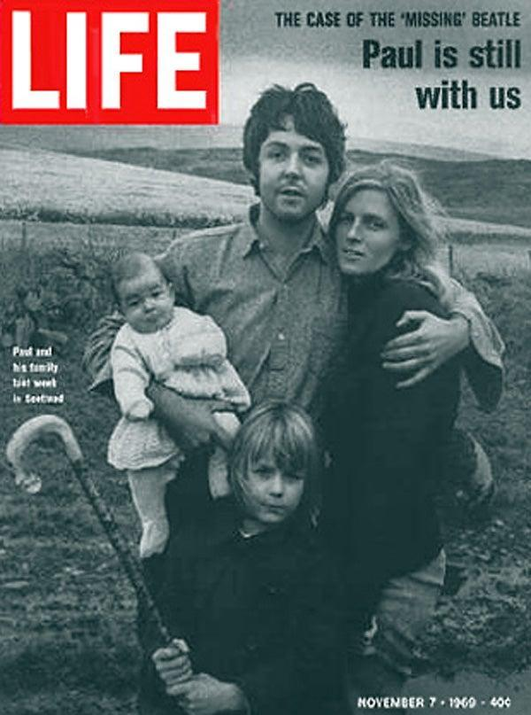 In 1969 LIFE magazine featured an interview with McCartney after rumours spread that he had died three years earlier and had been replaced by an imposter, sparking a conspiracy theory that has endured for decadesLIFE