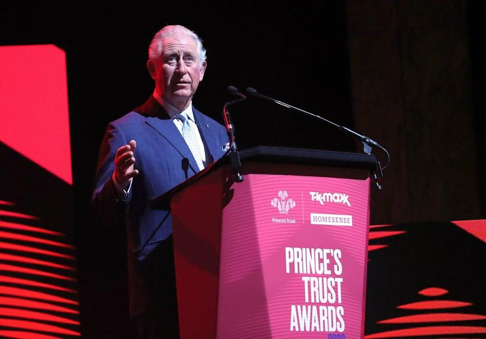 The Prince of Wales speaks at the annual Prince's Trust Awards (Yui Mok/PA) (PA Archive)