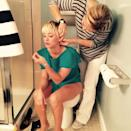 """<p>We think there is a rule: When you are among the highest paid TV stars, you have to multitask on the loo. Ya gotta do what ya gotta do … apparently. (Photo: <a rel=""""nofollow noopener"""" href=""""https://www.instagram.com/p/tQdP8jOWXx/"""" target=""""_blank"""" data-ylk=""""slk:Kaley Cuoco via Instagram"""" class=""""link rapid-noclick-resp"""">Kaley Cuoco via Instagram</a>) </p>"""