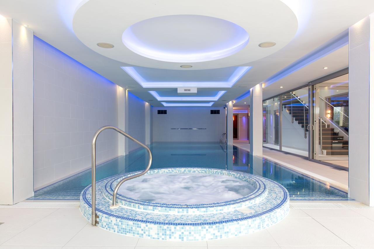 <p>The spa complex boasts an indoor swimming pool, sauna, steam room and gym. [Picture: SWNS] </p>