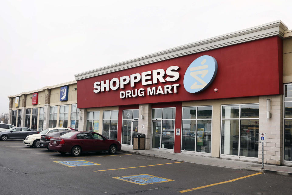 TORONTO, ON - MARCH 27  - Shoppers Drug Mart at Lake Shore Blvd. E. and Leslie St.,  March 27, 2017.        (Andrew Francis Wallace/Toronto Star via Getty Images)