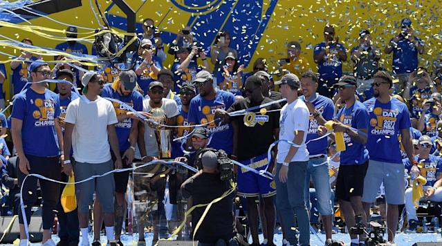 "<p>When the Warriors make their lone trip to Washington D.C. this season, they will spend time with local kids at an event that will be closed to media since the team is no longer invited to the White House, Chris Haynes and Ramona Shelburne of ESPN.com <a href=""http://www.espn.com/nba/story/_/id/22535866/with-no-trip-white-house-planned-golden-state-warriors-spend-part-dc-trip-local-kids"" rel=""nofollow noopener"" target=""_blank"" data-ylk=""slk:report"" class=""link rapid-noclick-resp"">report</a>.</p><p>Golden State coach Steve Kerr told ESPN that he let the players decide how they wanted to spend their time since they wouldn't have a White House trip, and they selected a venue where the kids would join them to spend some time during the day.</p><p>The team considered other options for how to spend that time, according to ESPN, including visiting Kevin Durant's hometown of Seat Pleasant, Md. Additionally, Washington D.C. mayor Muriel Bowser and House Minority Leader Nancy Pelosi invited the team to the US Capitol, but the Warriors declined to avoid making it seem like they were politicizing the event by meeting with two Democrats, Haynes and Shelburne report.</p><p>""At the end of the day, it's about us celebrating a championship so there's no point in getting into the political stuff and all that,"" Draymond Green told ESPN. ""It's about something we did great. Why make it about [politics]?""</p><p>This all stems from when in September, Steph Curry said <a href=""https://www.si.com/nba/2017/09/22/stephen-curry-warriors-white-house-visit-no-vote"" rel=""nofollow noopener"" target=""_blank"" data-ylk=""slk:he hoped the team could make a statement by not going to the White House"" class=""link rapid-noclick-resp"">he hoped the team could make a statement by not going to the White House</a>. Soon after, Donald Trump <a href=""https://www.si.com/nba/2017/09/23/donald-trump-warriors-white-house-stephen-curry-tweet"" rel=""nofollow noopener"" target=""_blank"" data-ylk=""slk:tweeted that he would no longer invite the team to the White House"" class=""link rapid-noclick-resp"">tweeted that he would no longer invite the team to the White House</a>, however, <a href=""https://www.si.com/nba/2017/09/23/steve-kerr-warriors-white-house-donald-trump-stephen-curry-reaction"" rel=""nofollow noopener"" target=""_blank"" data-ylk=""slk:it didn't seem to mean much to the team"" class=""link rapid-noclick-resp"">it didn't seem to mean much to the team</a>, especially considering they were planning to vote against going to the White House before the invitation was revoked, Haynes and Shelburne report.</p><p>Recently, Durant has been in the news for <a href=""https://www.si.com/nba/2018/02/15/lebron-james-donald-trump-comments"" rel=""nofollow noopener"" target=""_blank"" data-ylk=""slk:comments he and LeBron James made about Trump"" class=""link rapid-noclick-resp"">comments he and LeBron James made about Trump</a> while in conversation with ESPN's Cari Champion on a project for the UNINTERRUPTED. The remarks led to Laura Ingraham of Fox News telling the two MVPs to ""shut up and dribble,"" a comment <a href=""https://www.si.com/nba/2018/02/17/lebron-james-kevin-durant-laura-ingraham-comments"" rel=""nofollow noopener"" target=""_blank"" data-ylk=""slk:Durant and James both responded"" class=""link rapid-noclick-resp"">Durant and James both responded</a> to.</p><p>While in D.C., the Warriors will face the Wizards Feb. 28.</p>"