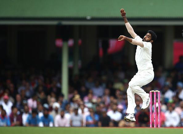 Jasprit Bumrah in action