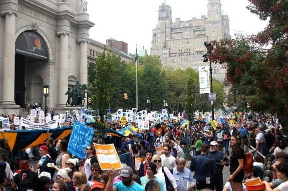 Over 300,000 people marched the streets of New York yesterday (Sept. 21) in a demonstration aimed at ending global inaction on climate change.
