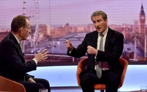 damian hinds and andrew marr - Credit: Reuters