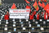 Airbus employees protest against the planned reduction of jobs in Hamburg