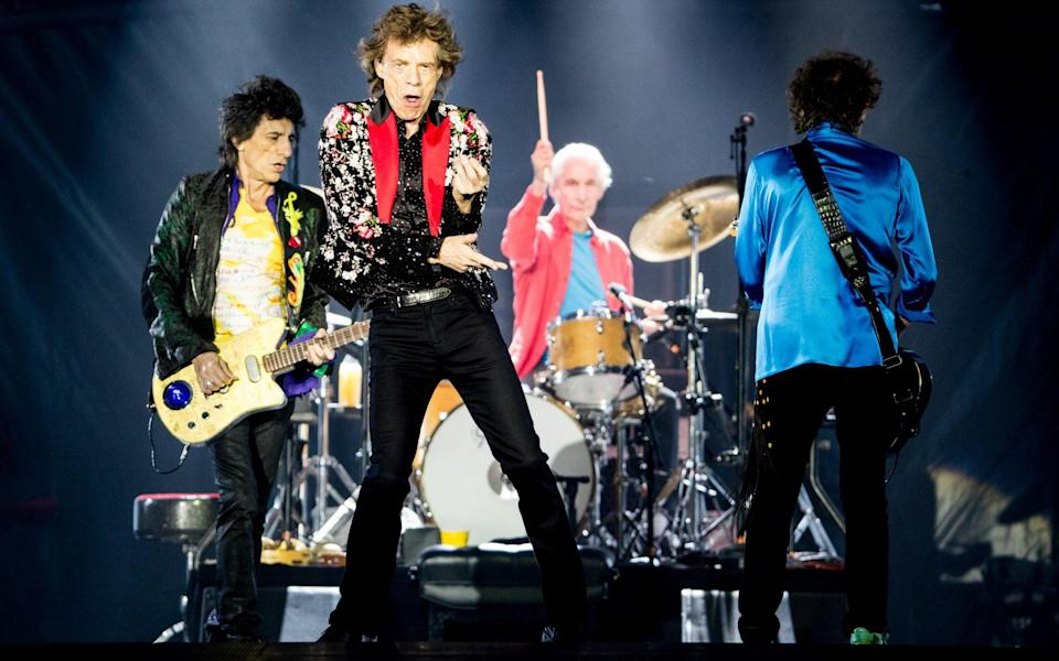 The Rolling Stones on stage in 2019 - Getty