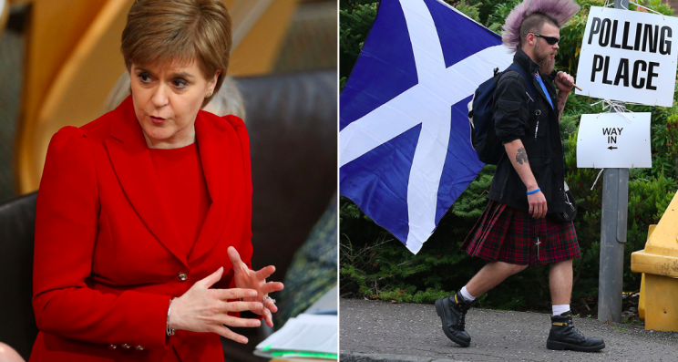Nicola Sturgeon has announced plans to hold a second Scottish independence referendum (PA)