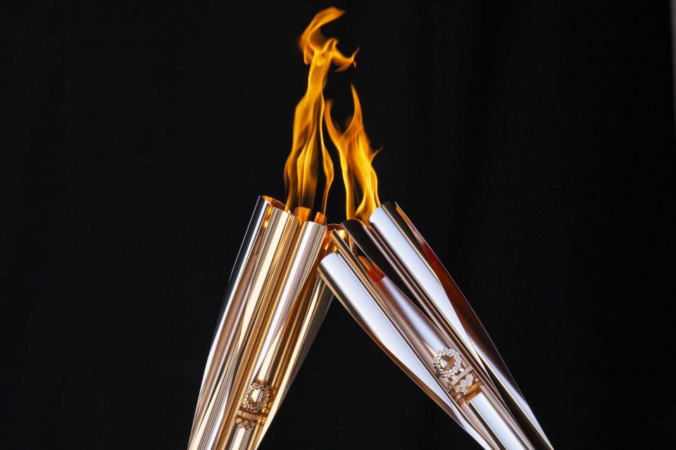 The tradition of the Olympic torch relay is always a highlight of the Games, despite the ugly history behind its creation. (Photo by Yuichi Yamazaki/Getty Images)