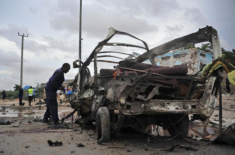 The car bombing is the latest deadly assault to hit Mogadishu in a matter of days (AFP Photo/Mohamed ABDIWAHAB)