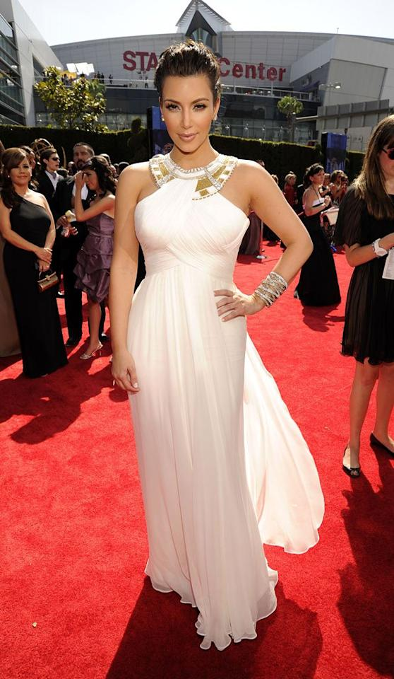 BEST: Kim Kardashian at the 62nd Primetime Emmy Awards held at the Nokia Theatre on August 29, 2010, in Los Angeles.