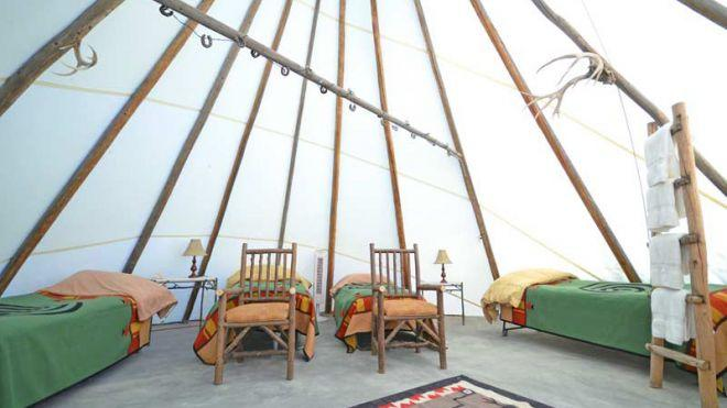 # A luxury teepee at the Cherrywood Bed Breakfast and Barn. (Courtesy of Cherrywood Bed Breakfast and Barn.)