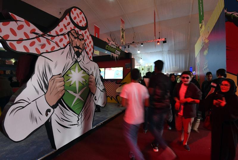 Saudis attend the country's first ever Comic-Con event in the coastal city of Jeddah on February 16, 2017 (AFP Photo/FAYEZ NURELDINE)