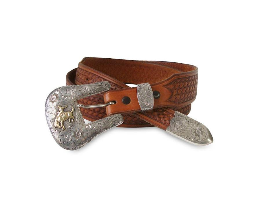 """<p>This buckle is marked """"R. Schaezlein & Son,"""" the name of a San Francisco silversmith founded in 1882 that was renowned for its Western wear. The backstamp dates this piece to the 1990s, explains Marsha Dixey of Heritage Auctions.</p><p><strong>What it's worth:</strong> $500</p>"""