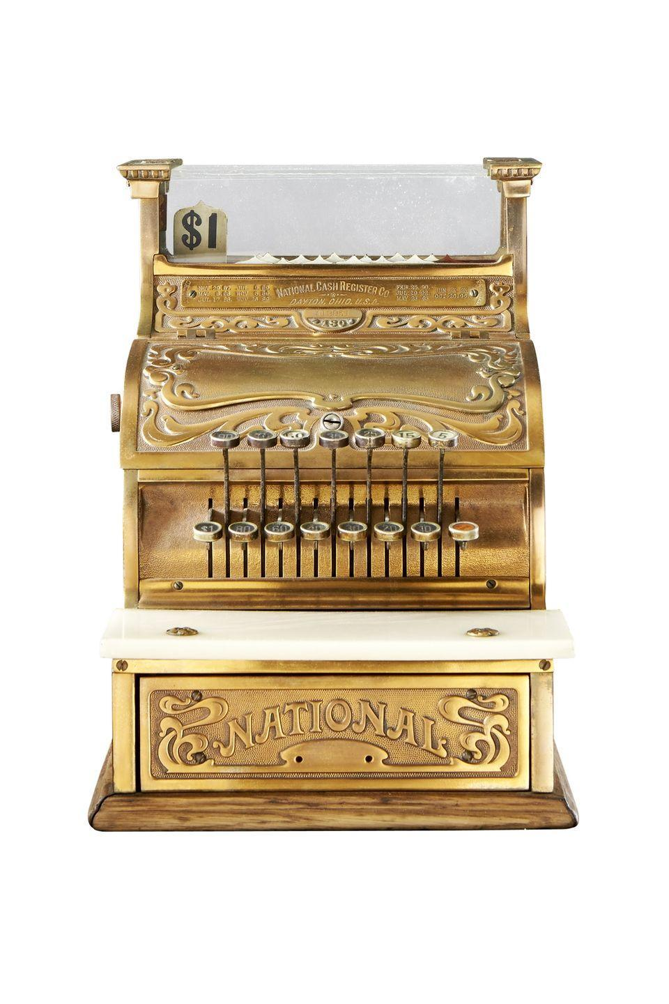 <p><strong>What it was worth (2015):</strong> $900</p><p><strong>What it's worth now</strong>: $1,000</p><p>Vintage machines from National Cash Register — now called NCR Corporation — are often appraised for thousands of dollars. </p>