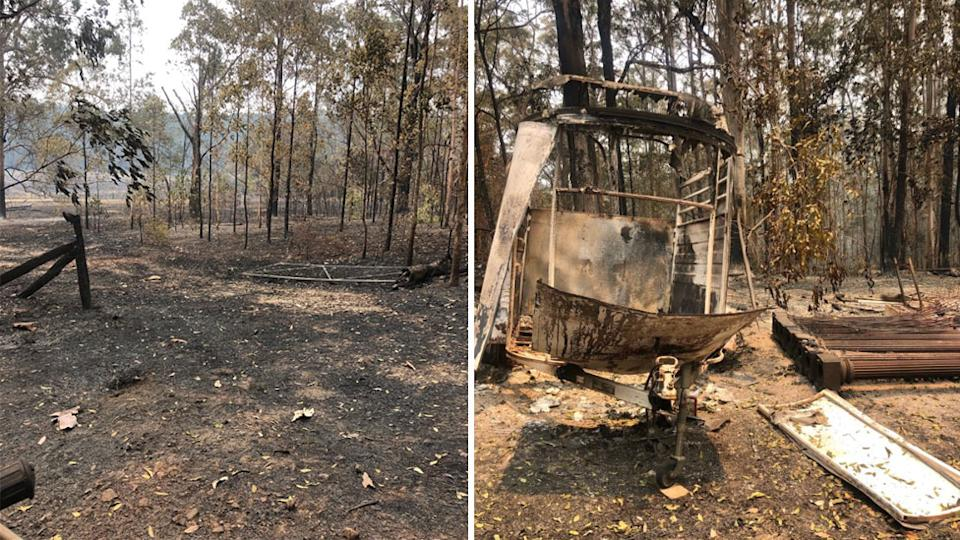 Russell Crowe property burnt after bushfires