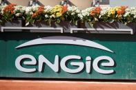 FILE PHOTO: Logo of Engie is seen on central court at Roland-Garros stadium