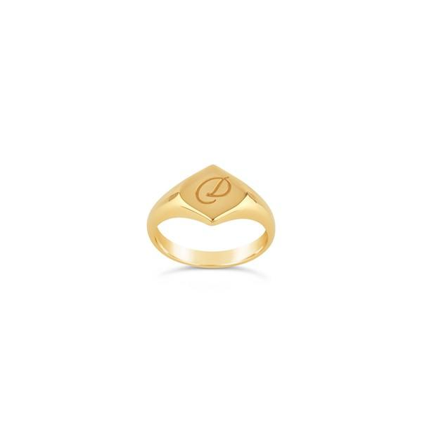 """<p><em><a rel=""""nofollow"""" href=""""https://www.dinnyhall.com/gifts/personalised-gifts/engraved-signet-pinky-lotus-ring"""">Dinny Hall</a>, £170</em> </p>"""