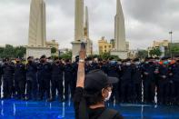 Activists protest against government and monarchy in Bangkok