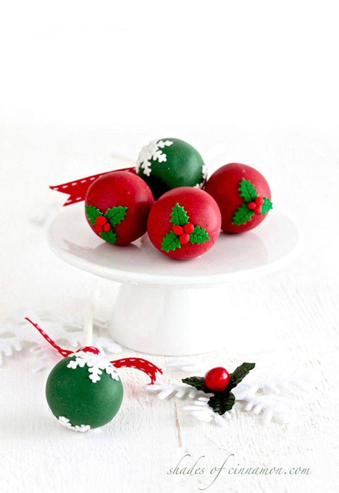"""<p>Use your <a href=""""https://www.countryliving.com/food-drinks/g2806/best-christmas-cakes/"""" rel=""""nofollow noopener"""" target=""""_blank"""" data-ylk=""""slk:most popular cake recipe"""" class=""""link rapid-noclick-resp"""">most popular cake recipe</a> as the base for these red-and-green treats.</p><p><strong>Get the recipe at <a href=""""https://www.shadesofcinnamon.com/cake-pops-for-christmas/"""" rel=""""nofollow noopener"""" target=""""_blank"""" data-ylk=""""slk:Shades of Cinnamon"""" class=""""link rapid-noclick-resp"""">Shades of Cinnamon</a>.</strong></p><p><a class=""""link rapid-noclick-resp"""" href=""""https://www.amazon.com/Stainless-Universal-Boiler%EF%BC%8CBaking-Tools%EF%BC%8CMelting-Chocolate/dp/B01N2LVGH0?tag=syn-yahoo-20&ascsubtag=%5Bartid%7C10050.g.22841709%5Bsrc%7Cyahoo-us"""" rel=""""nofollow noopener"""" target=""""_blank"""" data-ylk=""""slk:SHOP DOUBLE BOILERS"""">SHOP DOUBLE BOILERS</a></p>"""