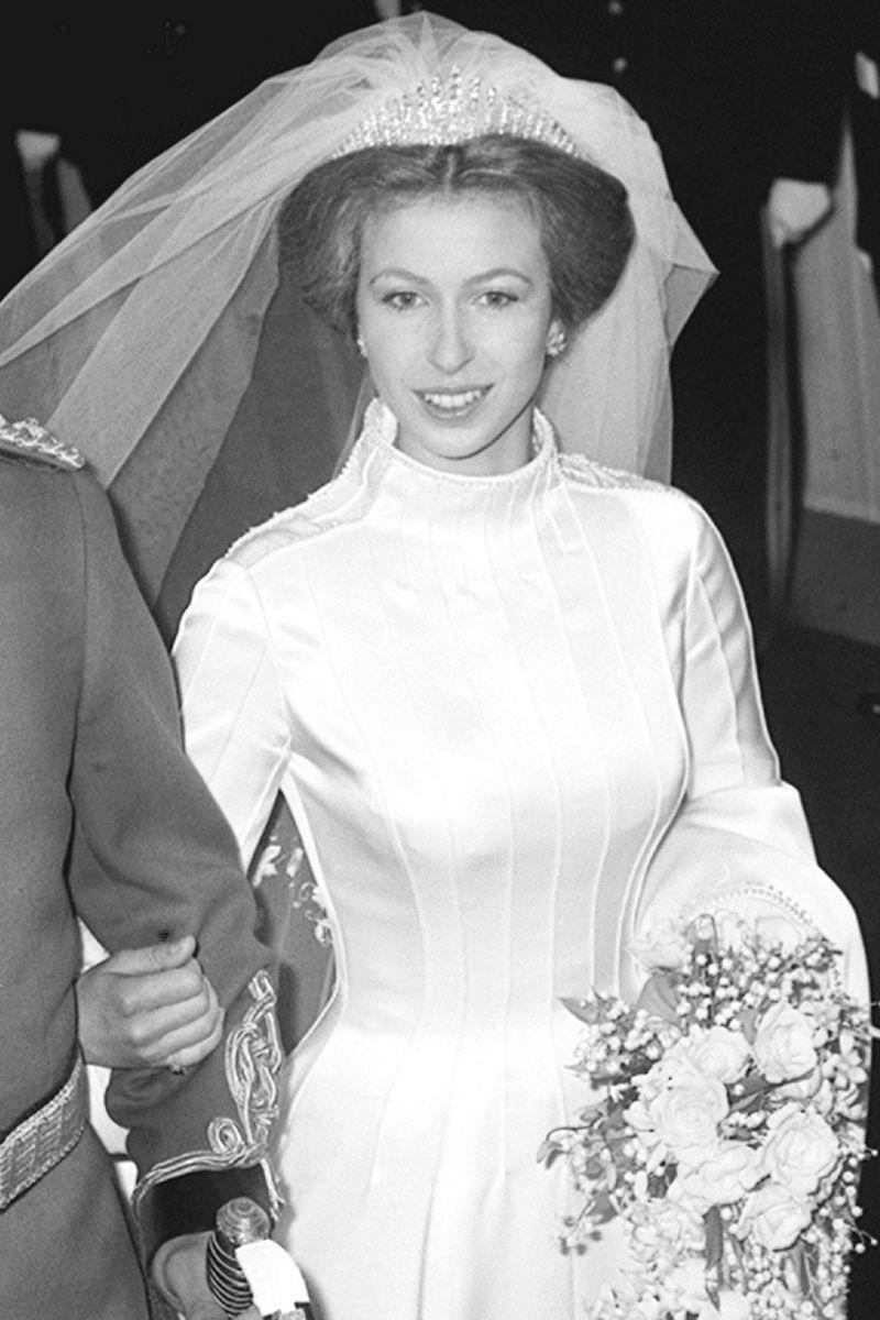 <p>This tiara was almost worn by the Queen on her wedding day, but it broke shortly before the ceremony. It is better known now as the tiara worn by the Queen's daughter, Princess Anne, on her wedding day, and does double duty as a necklace too. It was made for Queen Mary in 1919 using diamonds from a tiara that she'd received from Queen Victoria as a wedding gift. Mary later gave the tiara to the Queen Mother, who in turn left it to the Queen.<br></p>