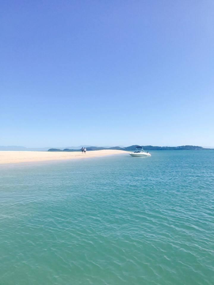 The beautiful Dunk Island. We had our own boat but you can pay for a water taxi from Mission Beach. Photo: Be
