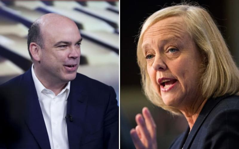 Former Autonomy chief executive Mike Lynch and HP chief executive Meg Whitman - Bloomberg/Getty
