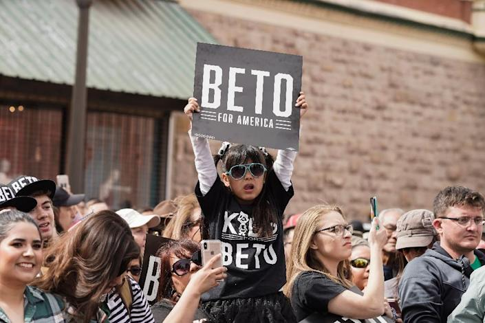 In an implicit rebuke to Trump, Beto O'Rourke told supporters his hometown was safer because of its immigrants, not more dangerous (AFP Photo/PAUL RATJE)