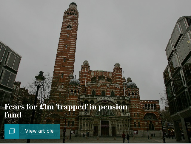 Fears for £1m 'trapped' in pension fund