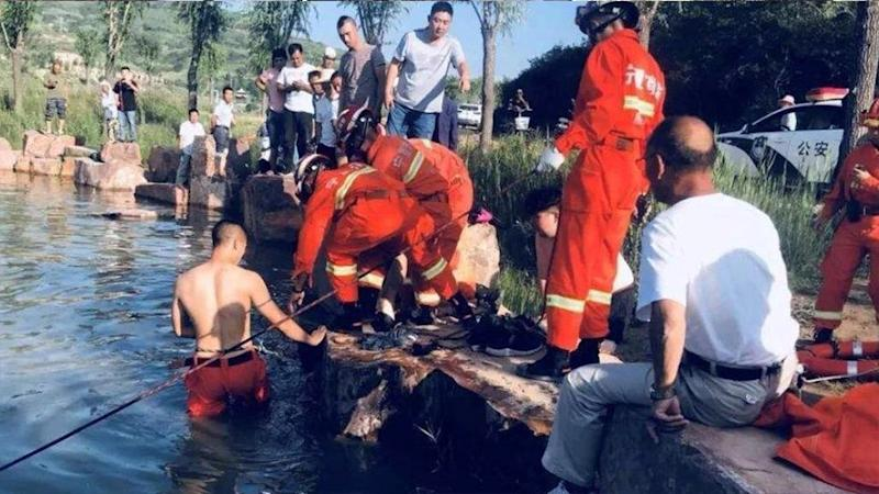 The bodies of eight school children have been retrieved from a river in China. Source: Twitter/CGTNofficial