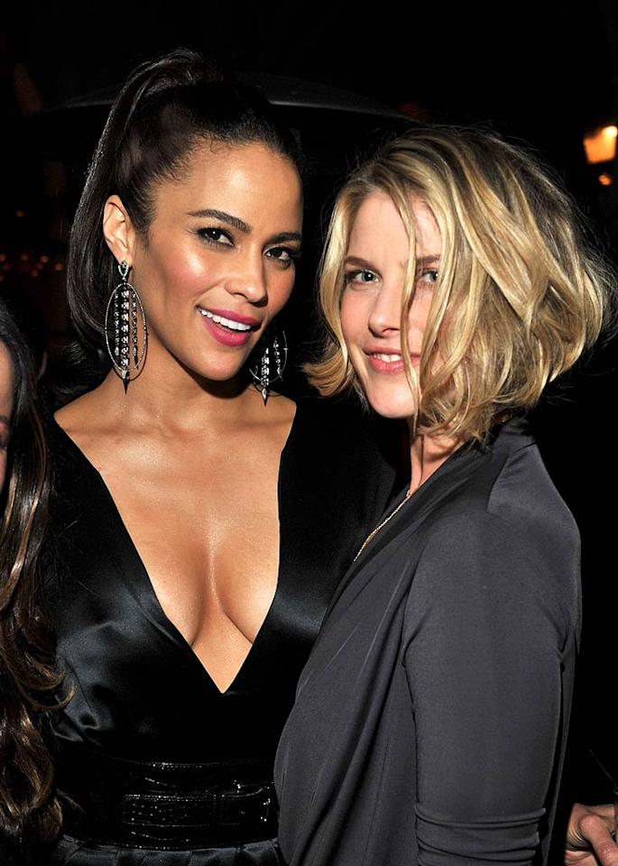 """Precious"" actress Paula Patton (left) showed off her assets when she popped a pose with Ali Larter. (11/17/2011)"