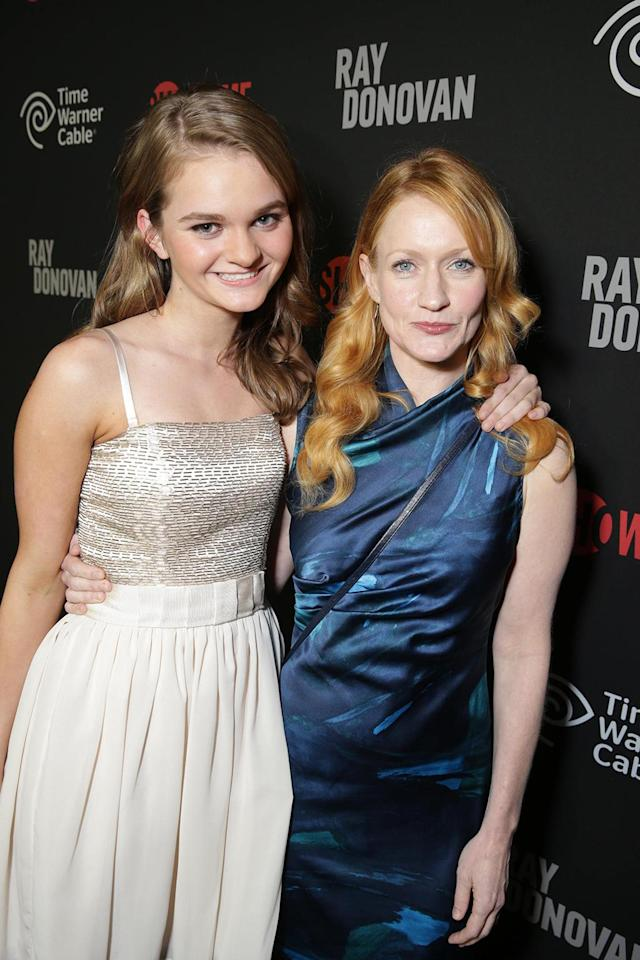 Kerris Dorsey and Paula Malcomson at the Showtime premiere of the new drama series Ray Donovan presented by Time Warner Cable, on Tuesday, June, 25, 2013 in Los Angeles. (Photo by Eric Charbonneau/Invision for Showtime/AP Images)