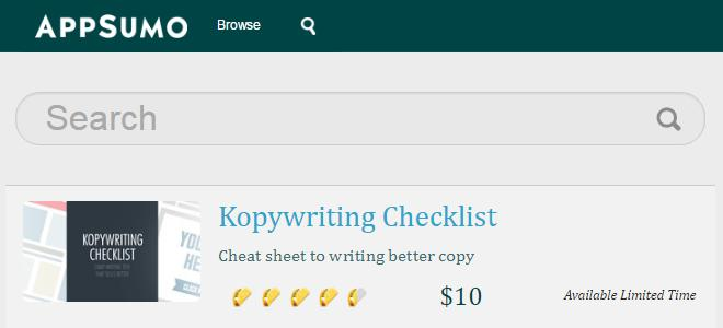 appsumo kopywriting checklist
