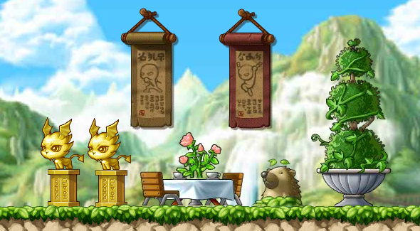 MapleStory Adventures decorations
