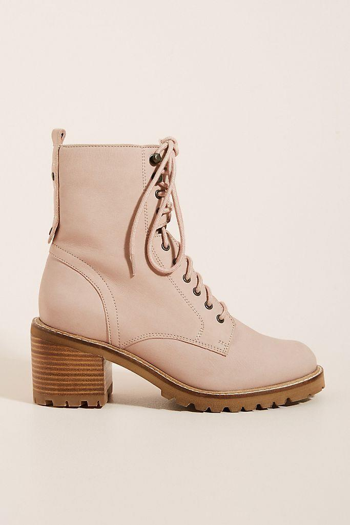 """<p><strong>Seychelles</strong></p><p><strong>$59.99</strong></p><p><a href=""""https://www.amazon.com/Seychelles-Womens-Irresistible-Combat-Boot/dp/B07Q4JB7NQ?tag=syn-yahoo-20&ascsubtag=%5Bartid%7C10067.g.28225508%5Bsrc%7Cyahoo-us"""" rel=""""nofollow noopener"""" target=""""_blank"""" data-ylk=""""slk:Shop Now"""" class=""""link rapid-noclick-resp"""">Shop Now</a></p><p>A chunky, rubber sole provides extra grip for slippery autumn weather, but the dusty blush shade keeps things feminine on this boot. </p>"""