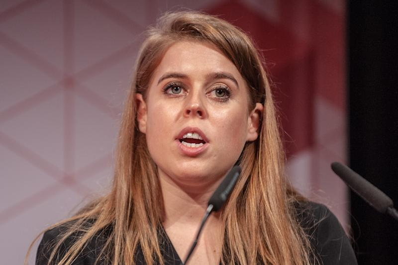 BARCELONA, SPAIN - FEBRUARY 26: Princess Beatrice of York attends a conference at the Mobile World Congress 2019 held at the Fira Gran Via 2 on February 26, 2019 in Barcelona, Spain. (Photo by Robert Marquardt/Getty Images)