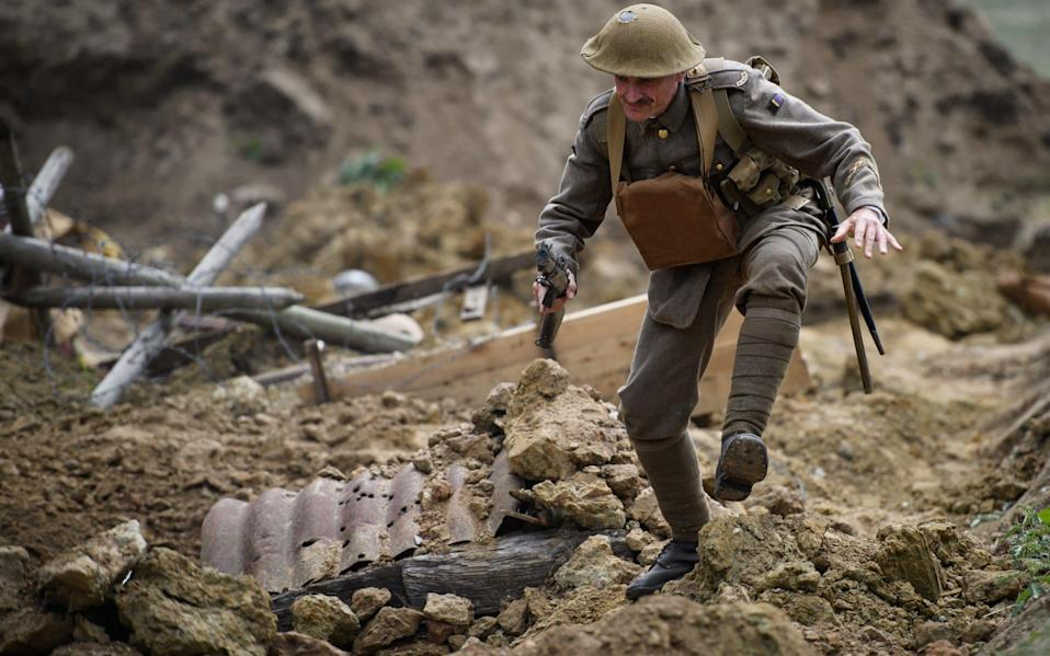 A reconstruction of the Battle of Passchendaele - Getty Images Europe