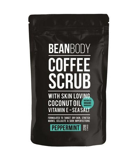 "<strong><a href=""https://www.target.com/p/bean-body-coffee-scrub-peppermint-220g/-/A-52642883"" target=""_blank"">Bean Body Coffee Scrub</a>, $16.99</strong>"