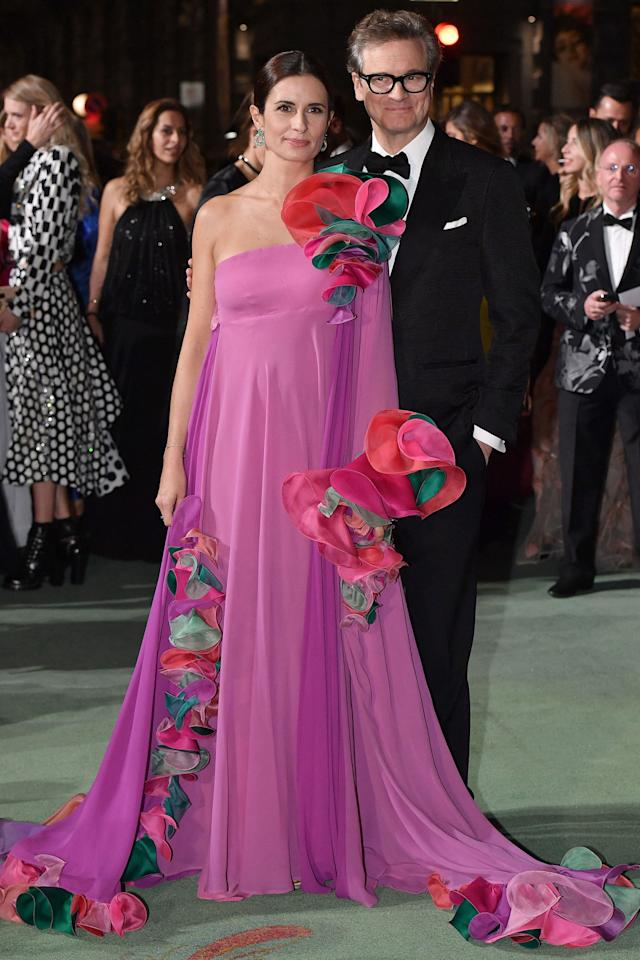 <p>Colin Firth attended the Green Carpet Fashion Awards during Milan Fashion Week <span>with wife Livia Firth - one of the award ceremony hosts - who wore a vintage Capucci<span> gown.</span></span><span></span></p>