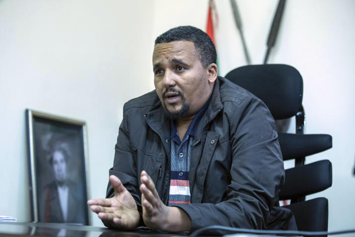 Jawar Mohammed during the exclusive interview with Associated Press at his house in Addis Ababa, Ethiopia, Thursday, Oct. 24, 2019. Ethiopia's Nobel Peace Prize-winning prime minister Abiy Ahmed faced the most serious political challenge of his short rule Thursday as officials said dozens of people might be dead in two days of unrest, and Jawar Mohammed hinted that he might enter next year's election race to challenge Abiy to become Prime Minister. (AP photo / Mulugeta Ayene)