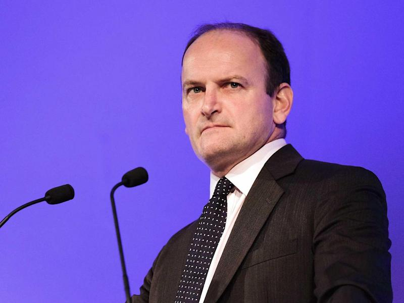 Douglas Carswell MP speaks to party members and supporters during the UK Independence Party annual conference (Getty)