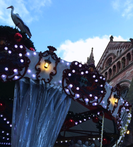 <p>The city is in full Christmas bloom — every street corner and building in town is decorated with lights and color. There's even an enchanting carousel by the cathedral.</p>